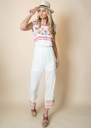 Embroidered Jumpsuit- Final Sale, CLOTHING, andree by unit, BAD HABIT BOUTIQUE