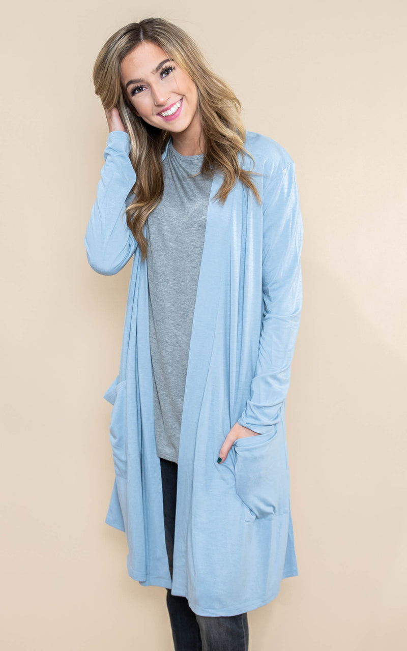 Long Duster Cardigan - DEAL OF THE DAY, CLOTHING, Zenana, BAD HABIT BOUTIQUE