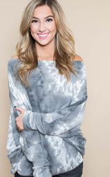 Off the Shoulder Tie Dye Top Tunic, CLOTHING, Heimish, BAD HABIT BOUTIQUE