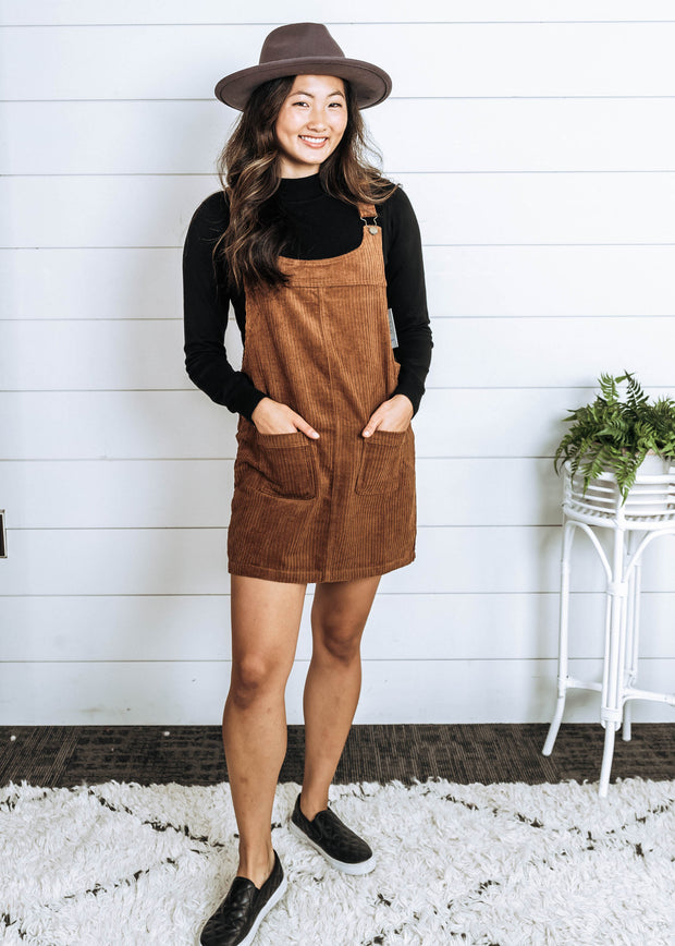 Bend the Rules Corduroy Dress Overalls