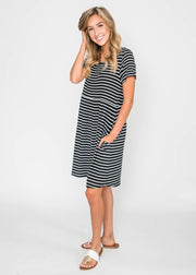 In Full Swing Striped Dress, CLOTHING, Lovely Melody, BAD HABIT BOUTIQUE