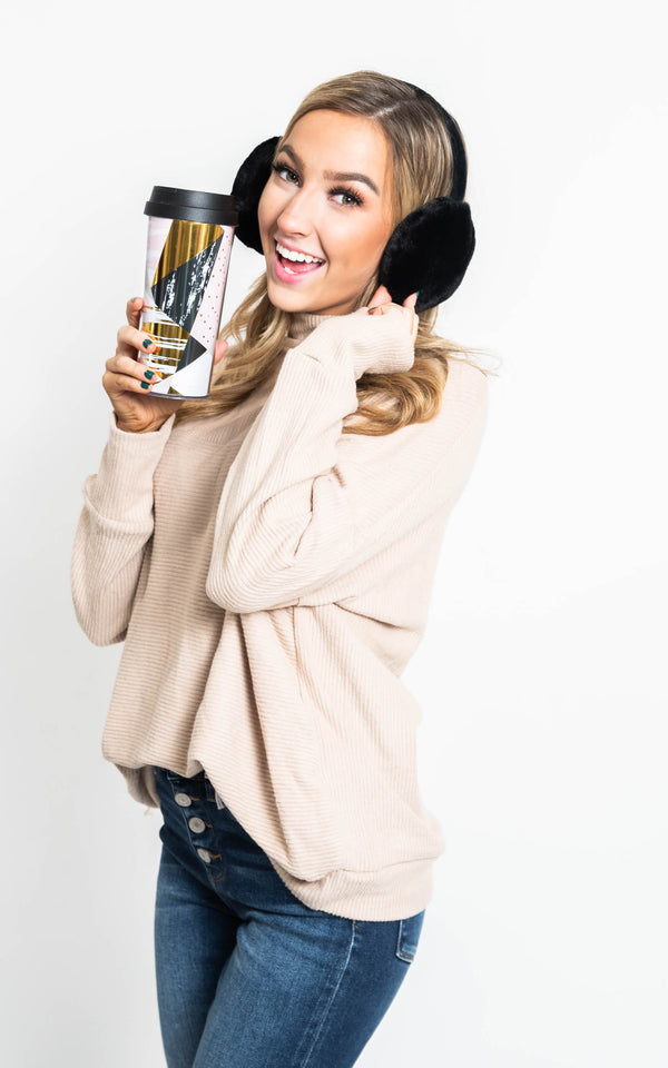 30 Days 30 Deals- Travel Mug & Ear Muff Set, CLOTHING, JOIA, BAD HABIT BOUTIQUE