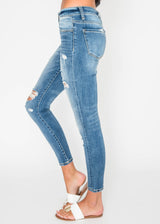 The Anna Midrise Distressed Ankle Skinny  |VERVET, CLOTHING, VERVET, BAD HABIT BOUTIQUE