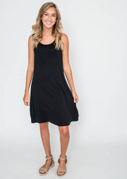 simple black tank dress