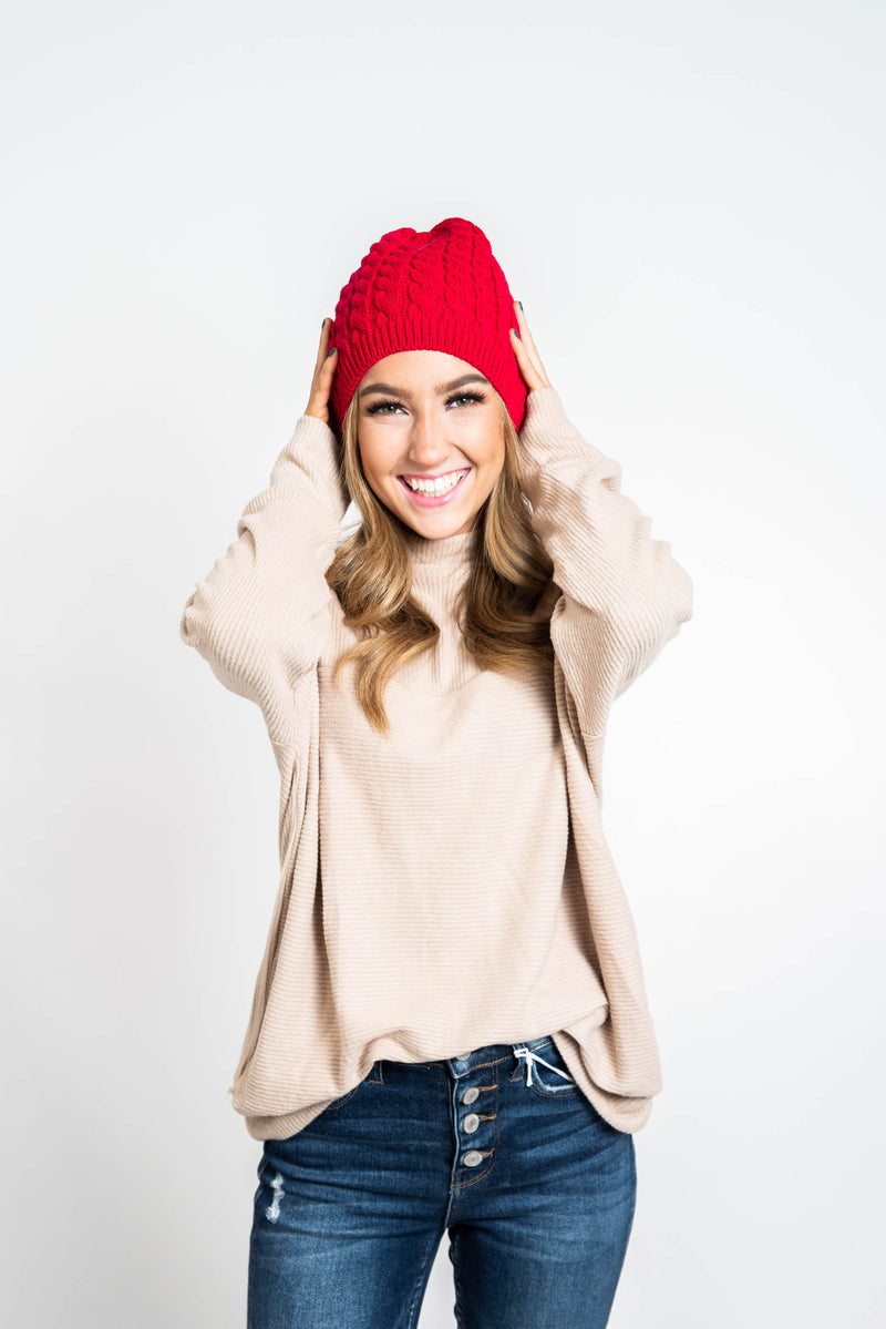30 Days 30 Deals -Cable Knit Beanie- Preorder, ACCESSORIES, ssactive, BAD HABIT BOUTIQUE