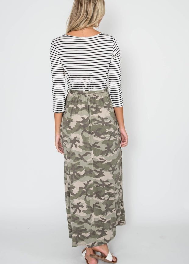Marita Camo Maxi Dress | FINAL SALE, CLOTHING, Lovely Melody, BAD HABIT BOUTIQUE