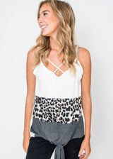 Colorblock Cheetah with Tie Knot - Final Sale, CLOTHING, Lovely Melody, BAD HABIT BOUTIQUE