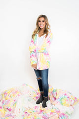 30 Days 30 Deals: Tie Dye Zip Up Sherpa Jacket - Multi, CLOTHING, BAD HABIT APPAREL, BAD HABIT BOUTIQUE