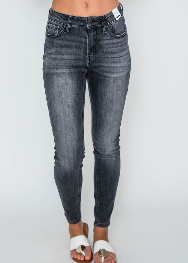 Grey High Waisted Skinny Jeans| Judy Blue, CLOTHING, JUDY BLUE, BAD HABIT BOUTIQUE
