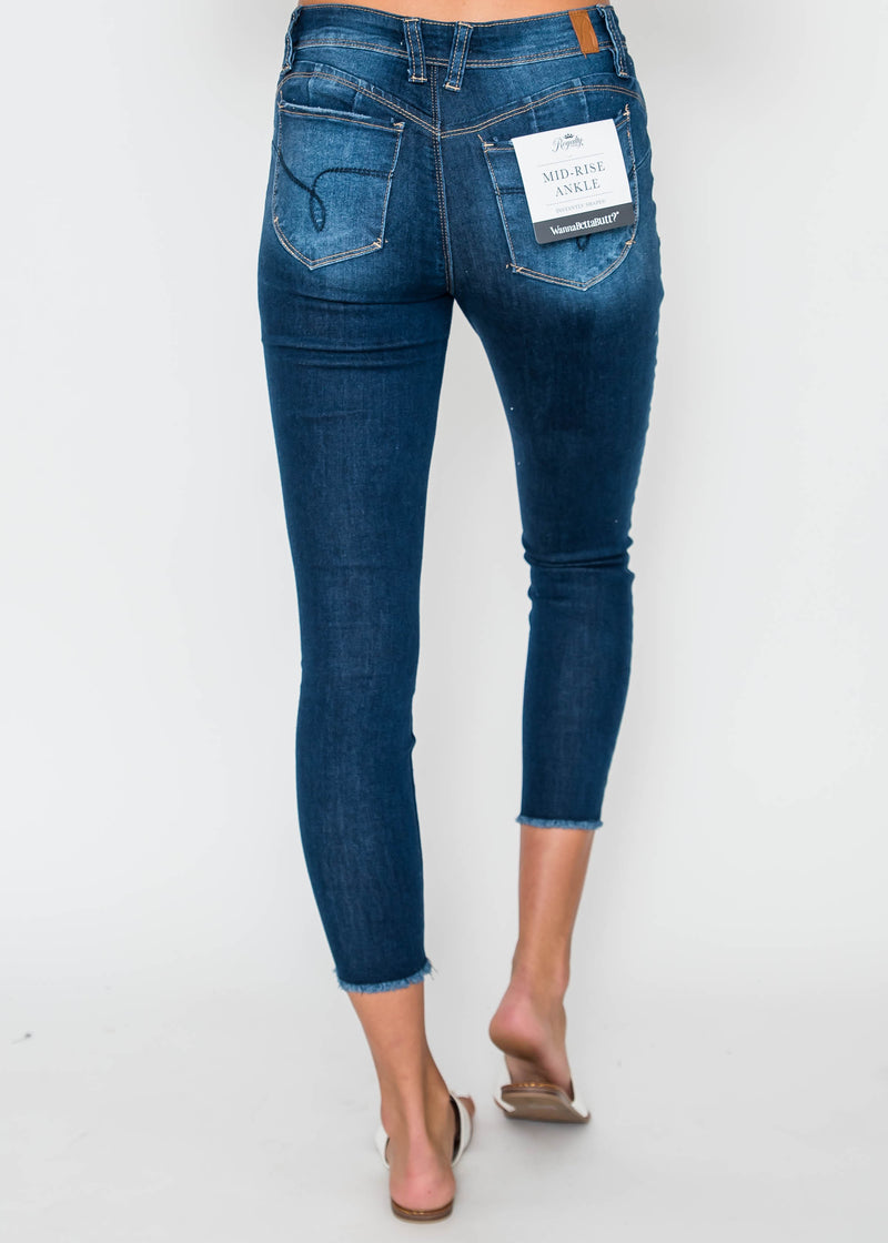 WannaBettaButt Mid-Rise Ankle Jean, CLOTHING, YMI, BAD HABIT BOUTIQUE