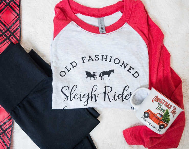 old fashion sleigh rides, graphic tee, 2019 gift box, best gift for 2019, christmas 2019, gift box for her