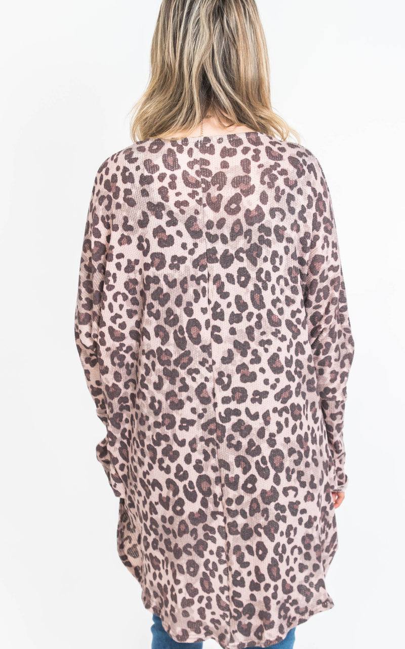 Mauve Leopard Cardigan, CLOTHING, TWENTY SECOND, BAD HABIT BOUTIQUE