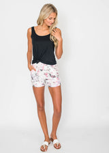 Harem Floral WaterColor Short | FINAL SALE, CLOTHING, BOUTIQUE ONLY, BAD HABIT BOUTIQUE