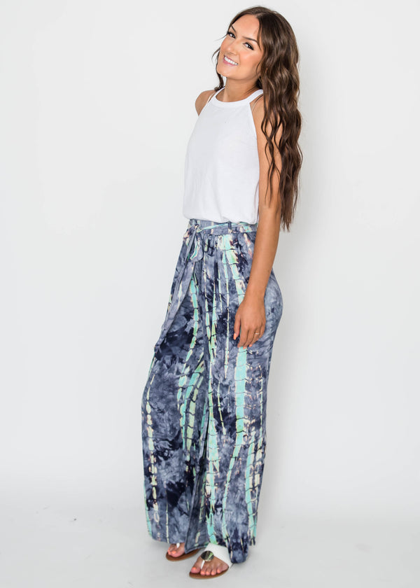 Tie Dye Slit Pants, CLOTHING, Lovely Melody, BAD HABIT BOUTIQUE