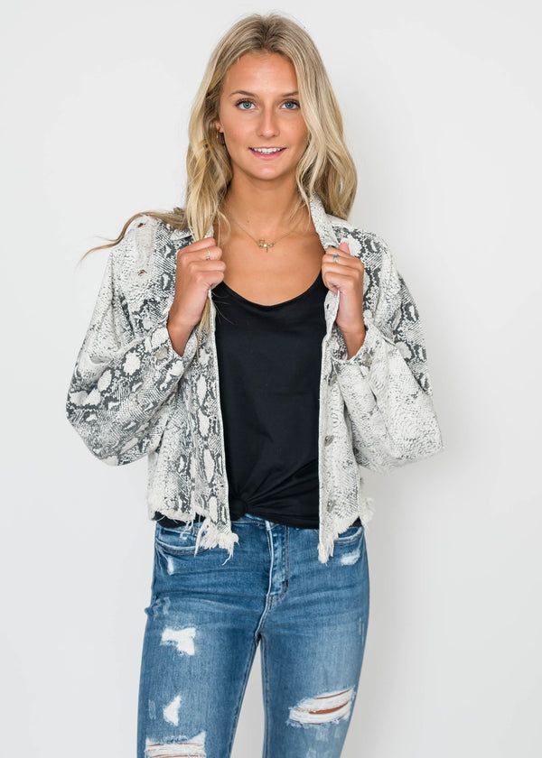 Snakeskin Jacket | FINAL SALE, CLOTHING, POL, BAD HABIT BOUTIQUE