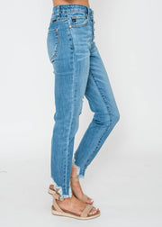 KanCan Button Fly Straight Fit Denim, CLOTHING, KAN CAN, BAD HABIT BOUTIQUE
