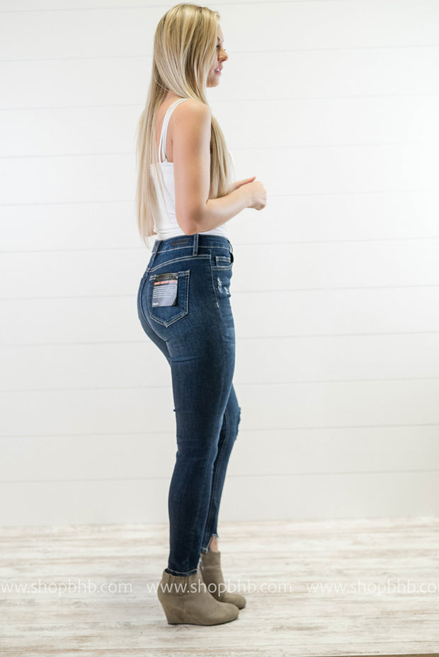High Rise Crop Skinny Distressed Ankle | Cello, DENIM, CELLO, badhabitboutique