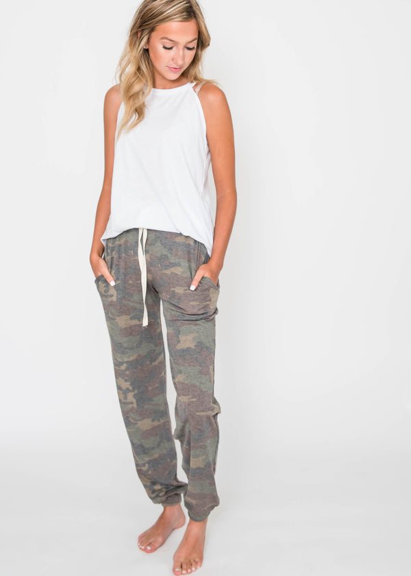 Camo Drawstring Jogger | FINAL SALE, CLOTHING, Lovely Melody, BAD HABIT BOUTIQUE
