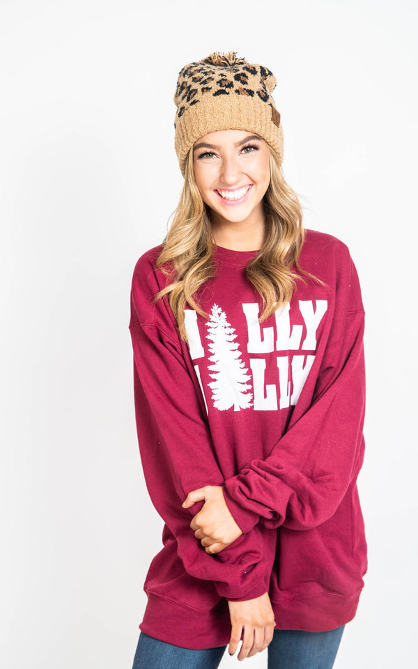 30 Days 30 Deals: Holly Jolly Sweatshirt, CLOTHING, BAD HABIT APPAREL, BAD HABIT BOUTIQUE