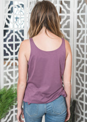 Purple scoop neck tank