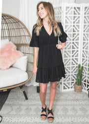 black heart mini dress