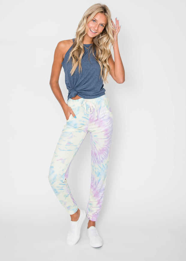 Swirly Stormy Tie Dye Jogger, CLOTHING, Lovely Melody, BAD HABIT BOUTIQUE