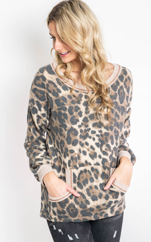 Soft & Cozy Cheetah Top - Final Sale, CLOTHING, White Birch, BAD HABIT BOUTIQUE