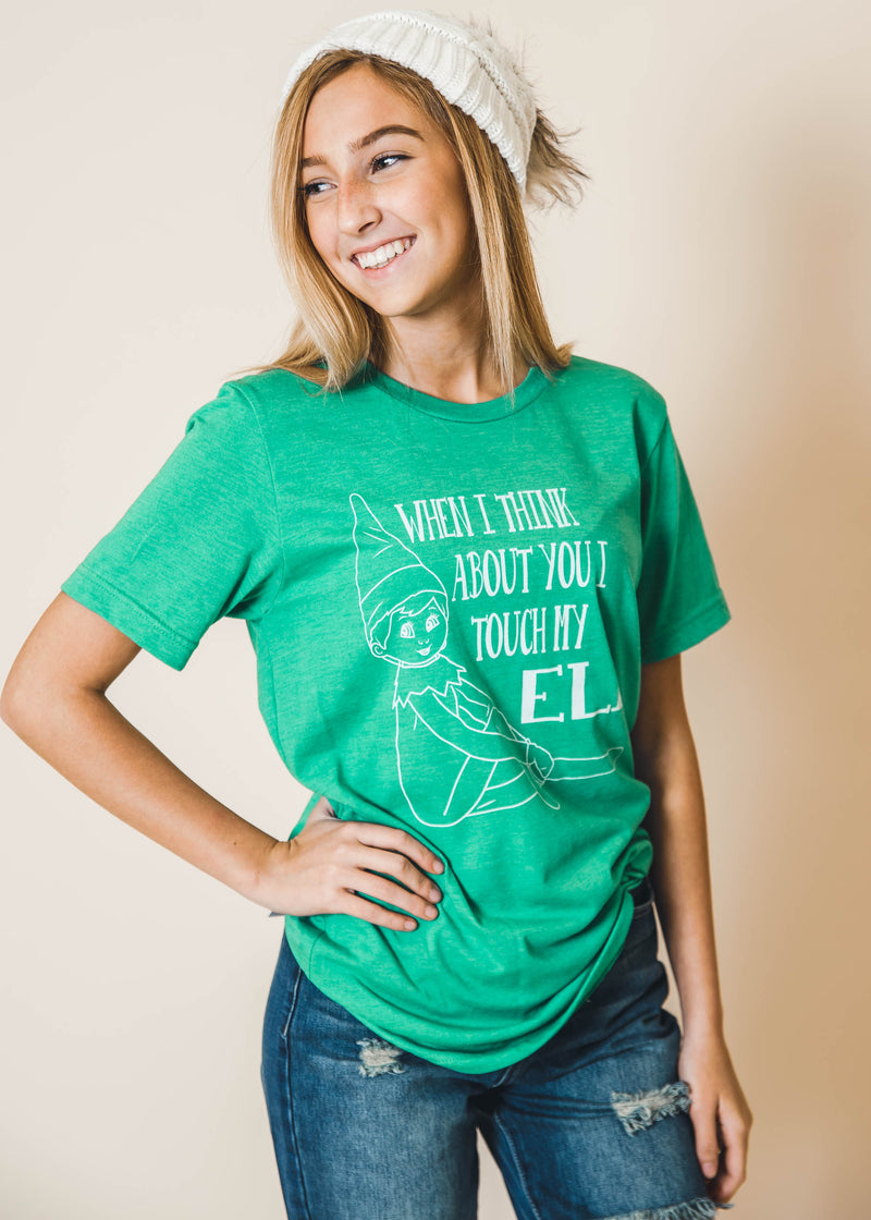 Touch My Elf Tshirt | Green, CLOTHING, BAD HABIT APPAREL, BAD HABIT BOUTIQUE