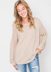 Oversized Comfort Sweater, CLOTHING, Be Cool, BAD HABIT BOUTIQUE