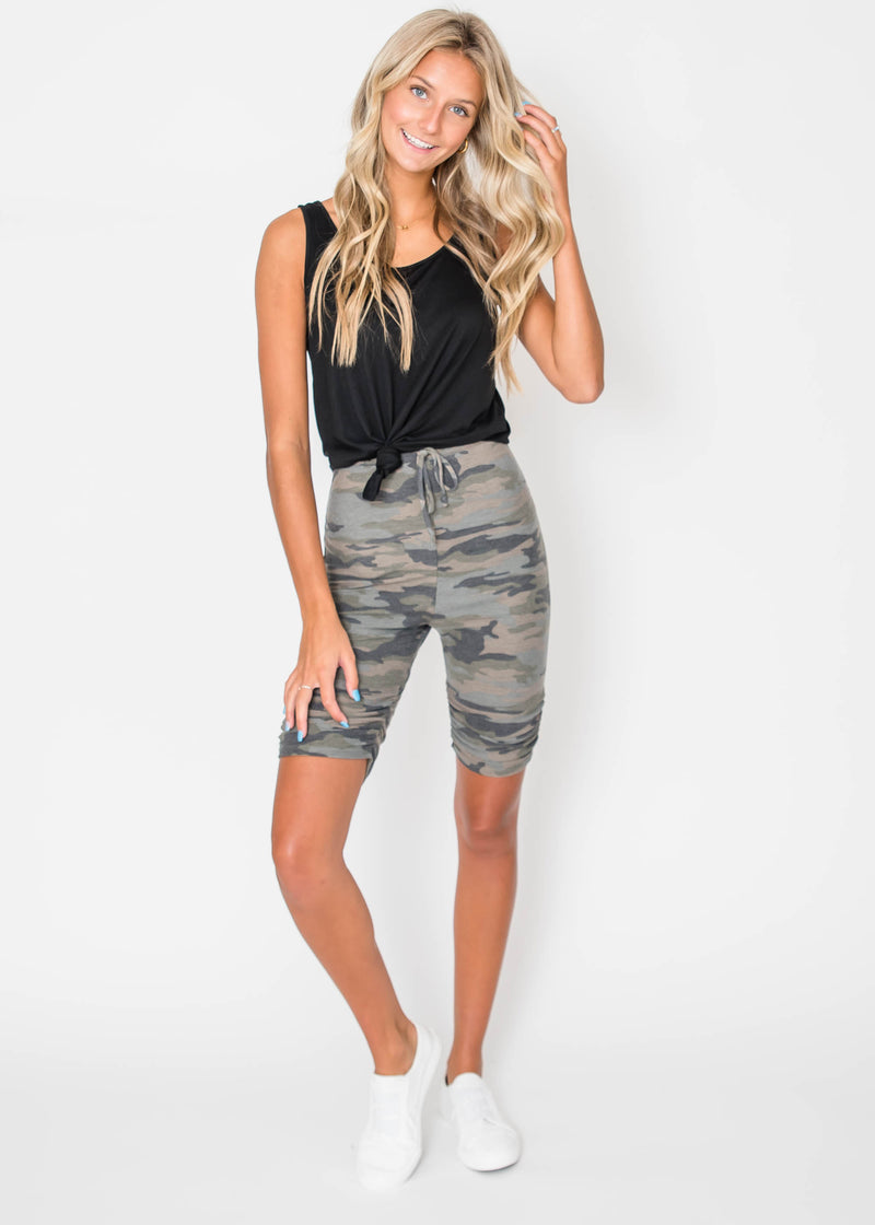 Camo Biker Shorts | FINAL SALE, CLOTHING, Lovely Melody, BAD HABIT BOUTIQUE