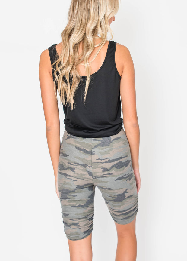 Camo Biker Shorts, CLOTHING, Lovely Melody, BAD HABIT BOUTIQUE