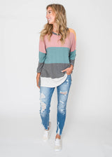 Feel Like Transition Striped Top, CLOTHING, Lovely Melody, BAD HABIT BOUTIQUE