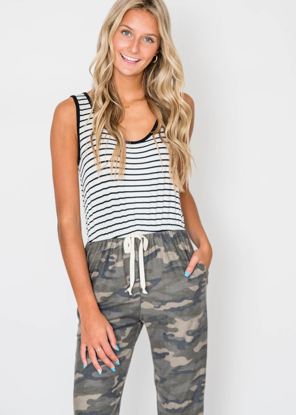 Falling for Camo Jumpsuit | FINAL SALE, CLOTHING, Lovely Melody, BAD HABIT BOUTIQUE