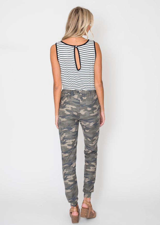 Falling for Camo Jumpsuit, CLOTHING, Lovely Melody, BAD HABIT BOUTIQUE