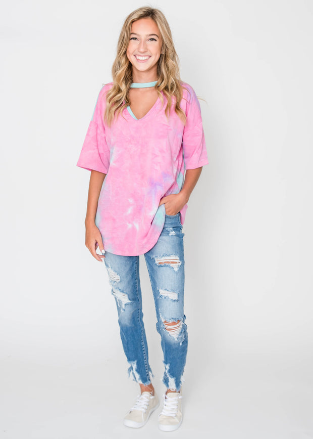 Adore to Tie Dye Top, CLOTHING, Lovely Melody, BAD HABIT BOUTIQUE