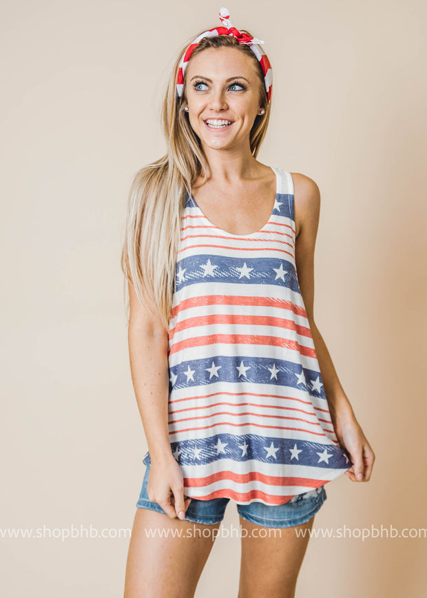 Americana Stripes tank top
