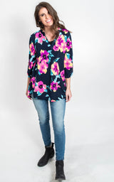 Floral Vneck Blouse   {SEW IN LOVE }, CLOTHING, SEW IN LOVE, BAD HABIT BOUTIQUE