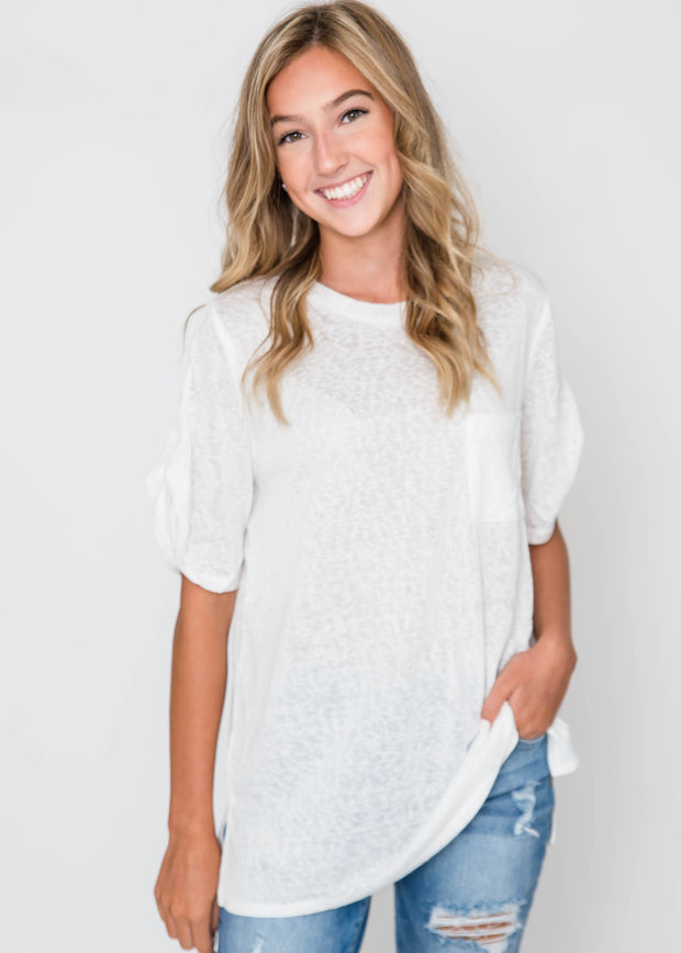 Loose Fit French Terry Top, CLOTHING, Cherish, BAD HABIT BOUTIQUE