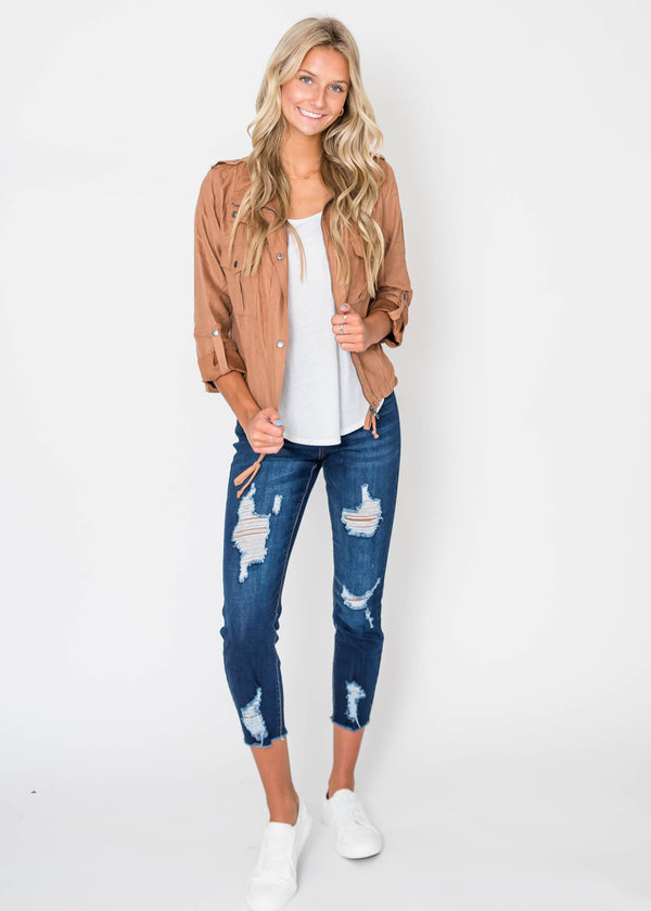 Utility Crop Jacket | FINAL SALE, CLOTHING, Be Cool, BAD HABIT BOUTIQUE
