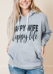 Happy Wife Happy Life Hoodie, CLOTHING, BAD HABIT APPAREL, BAD HABIT BOUTIQUE