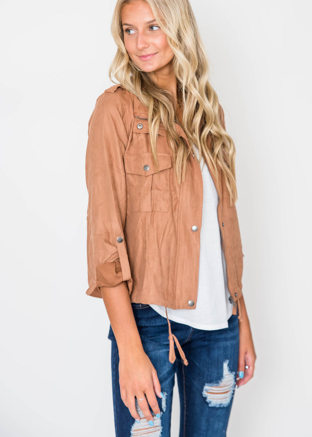 Utility Crop Jacket, CLOTHING, Be Cool, BAD HABIT BOUTIQUE