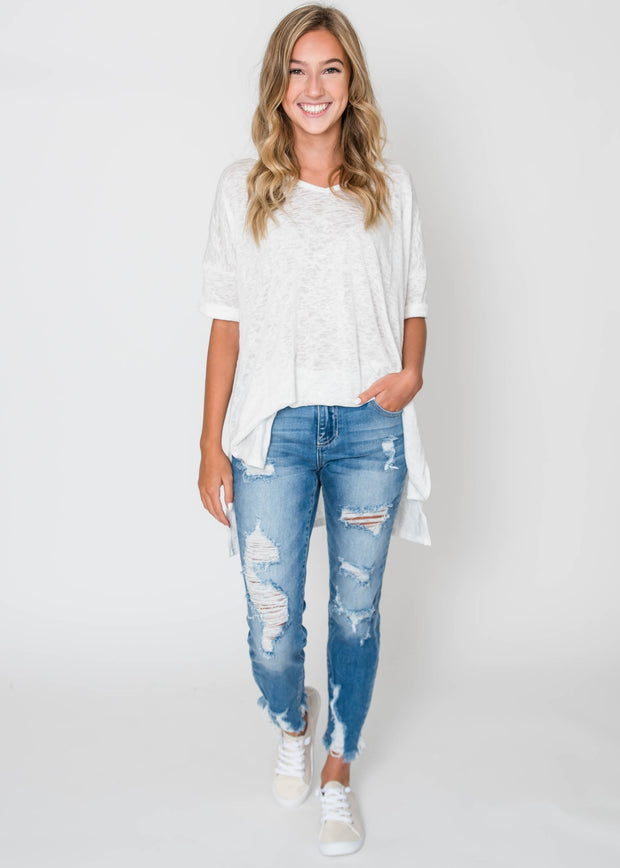white oversized t-shirt
