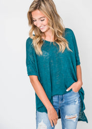 hunter green tee