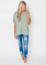 short sleeve dolman top