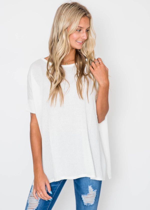 Simple Textured Top | FINAL SALE, CLOTHING, Cherish, BAD HABIT BOUTIQUE