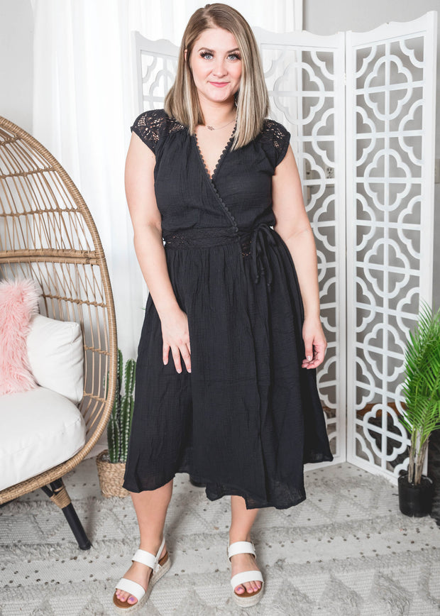 Black Lace Wrap Dress, dress, dresses, black dress, black dresses, graduation dresses, graduation dress, funeral dress, funeral dresses, spring dress, summer dress