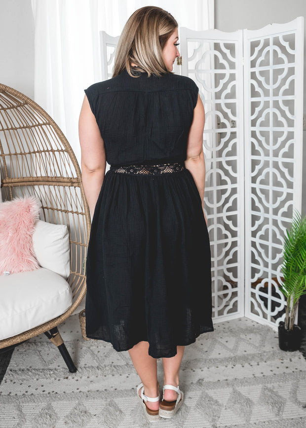 Black Lace Wrap Dress | FINAL SALE, CLOTHING, HyFve, BAD HABIT BOUTIQUE
