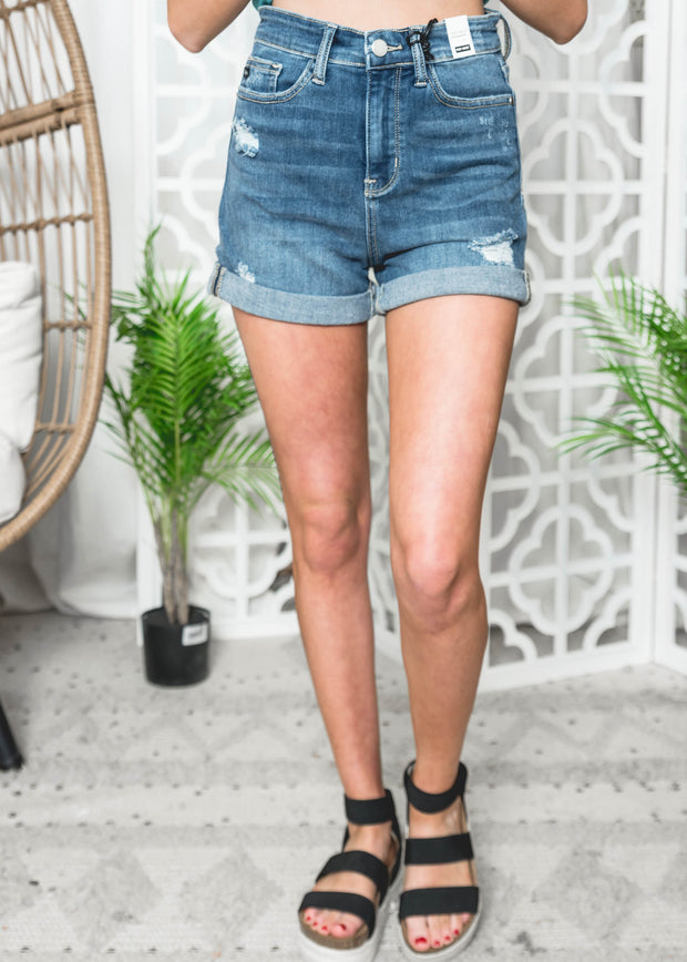 Judy Blue -Dark Wash Shorts-15004 | FINAL SALE, CLOTHING, Judy Blue, BAD HABIT BOUTIQUE