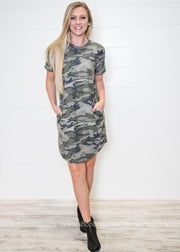 Short Sleeve Camo Dress