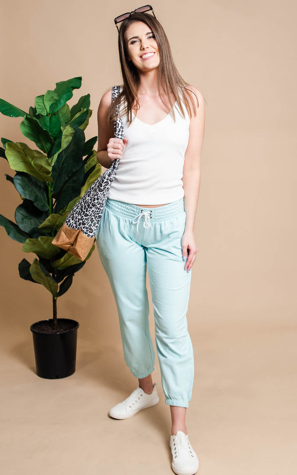 French Terry Drawstring Jogger - BAD HABIT BOUTIQUE
